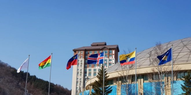 Flamuri i Kosovës ngrihet për Lojërat Olimpike Dimërore