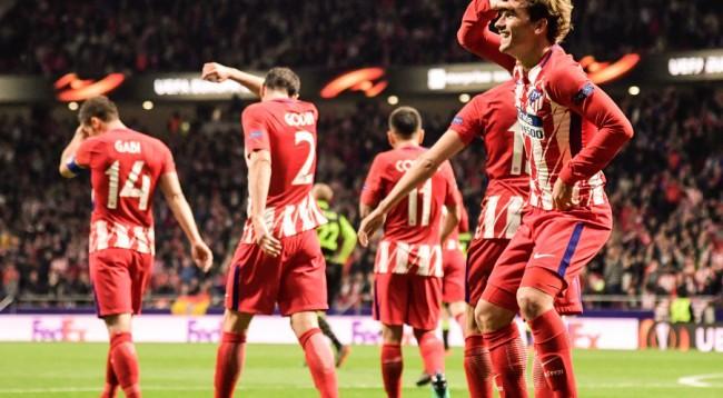 Atletico Madridit i mjaftoi pjesa e parë për të mposhtur Sportingun